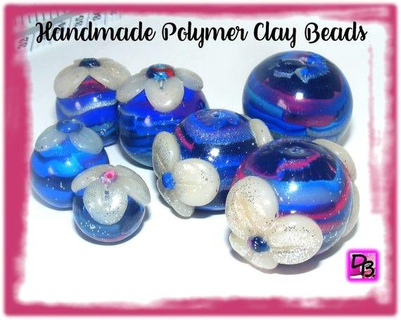 Lot unique 7 perles [Pétales de fleurs]