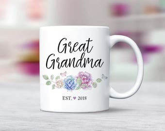 Best Grandmas get promoted to Great Grandma, Great Grandma Gift, Pregnancy Reveal, Baby Announcement, New Great Grandma Mug Grandma Mug