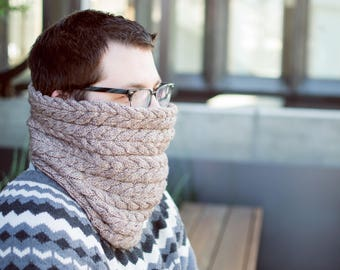 cable cowl knitting pattern → the bell choir
