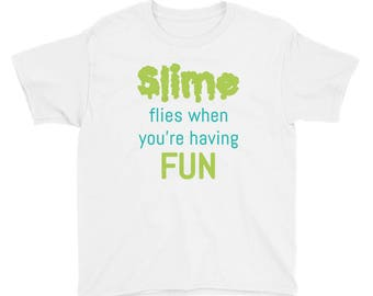 Youth Slime Shirt fluffy slime butter slime cheap slimer shirt scented slime queen slime birthday slime party slime gifts slime t-shirt