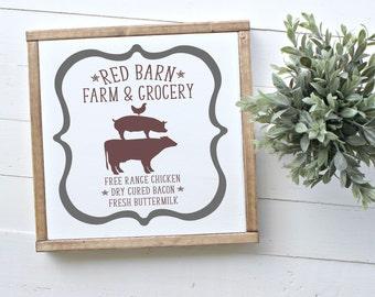 Red Barn Farm & Grocery SVG