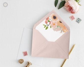 Envelope Liners, Printable Liner, Pink Envelope Liner, Floral Envelope Liner, Envelope Liner, A7 Envelope Liner, Instant Download, #IPP