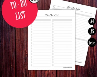 To Do Planner Inserts, Printable To Do List, Desk Planner, A5 Filofax Inserts, Kikki K Printable Planner Pages, Letter, Daily Inserts A5 A4