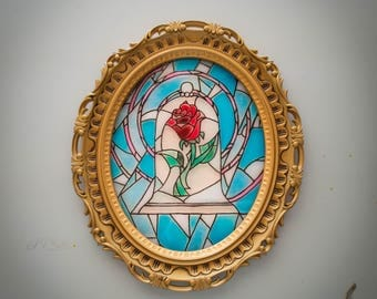 Enchanted Rose faux stained glass