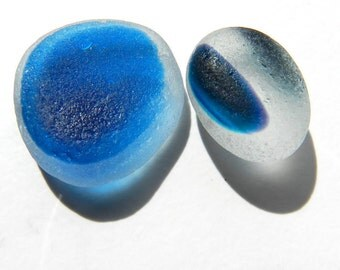 Two Pendant Sized English Sea Glass Multis
