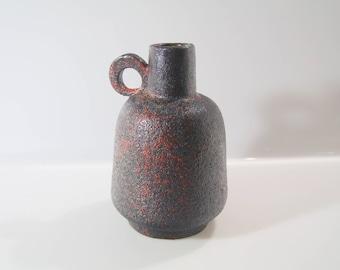 Gorgeous vase bei Rhein Ruhr Keramik, RRK West German Pottery Mid Century Fat Lava
