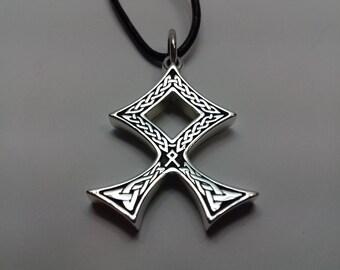 Odal Rune Pendant, Amulet, viking runes, Viking jewelry, Scandinavia, Norse, Pagan, Talisman, Celtic jewelry, Celtic knot, Rune necklace
