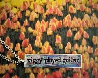 David Bowie Ziggy Stardust Pendant Necklace