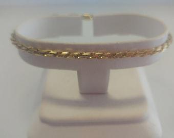14k Diamond Cut Rope Bracelet