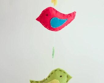 Baby mobile- little birds.