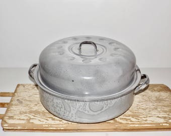 gray enamel roasting panround turkey roastergray granite cookware
