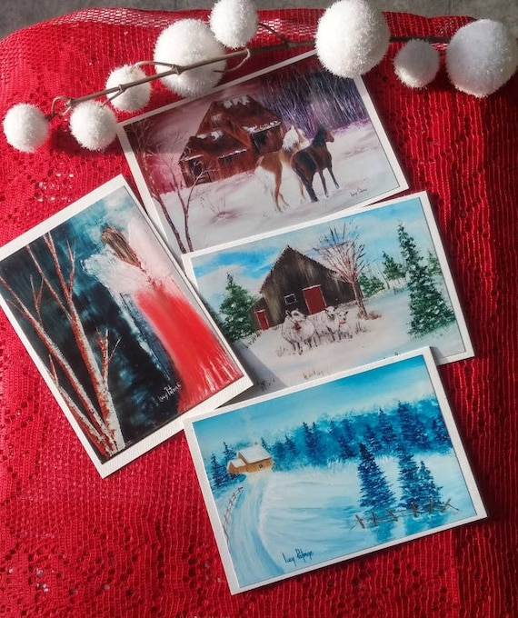 4 cards of holiday Christmas/discounts on 4 cards/card new year / Christmas / Christmas / season winter/holiday wishes