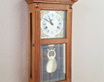 Vintage / Antique D&A Brand 31-Day Mechanical (key wind) Chiming Parlor Pendulum Clock / Wall Clock - Professionally Restored  With Warranty