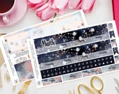 Astrology Happy Planner Monthly Planner Sticker Kit, Sunday or Monday Start, Any Month, Mambi, Life Planner, Month View, Stars, Celestial
