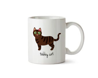 Tabby Cat Mug (brown - girl)