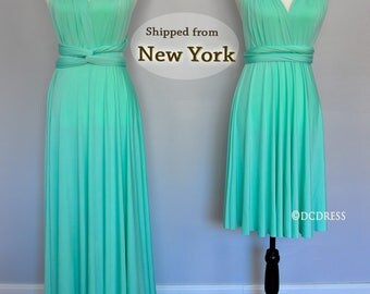 Mint Green Bridesmaid dress, infinity dress, convertible dress, party dress, prom dress, multiway dress, long dress, bridesmaid dress, maxi