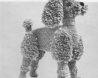 Poodle Dog Toy PDF Knitting Pattern : Instant Download