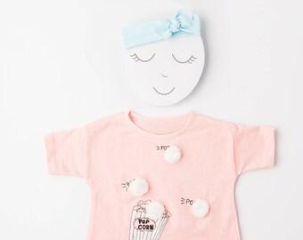 Blue Organic Baby Headband / Baby Headband / Baby Gift / Newborn Headband / Toddler Headband / Infant Headband / Baby Headwrap / Bows