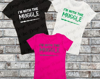 I'm With the Muggle Harry Potter T-Shirt, Tee, Shirt