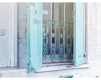 window photography, New Orleans photography, French Quarter, shabby chic, travel photography, architecture print, New Orleans home decor