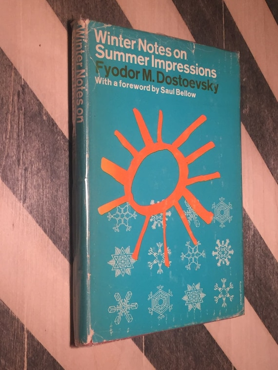 Winter Notes on Summer Impressions by Fyodor Dostoevsky (1955) hardcover book