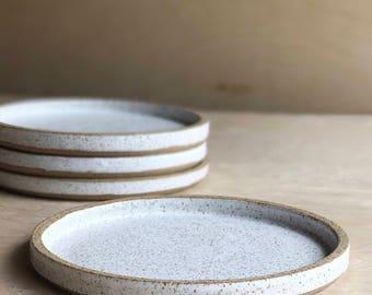 White Speckled Ceramic Plates *MADE TO ORDER & Handmade speckle ceramics   Etsy
