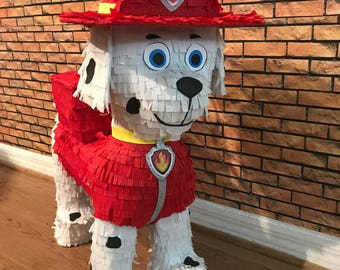 Paw Patrol Pinata Birthday. Marshall the dog. Party Decorations and Supplies