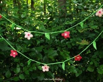 Crochet bunting, crochet garland, crochet wall decor, crochet home decor crochet decoration, crochet wall hanging, crochet flower garland