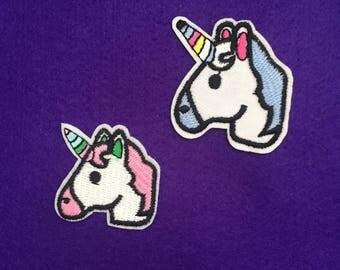 Unicorn iron on patch / pink unicorn / blue unicorn / sew on patches