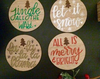 Holiday Drink Coasters