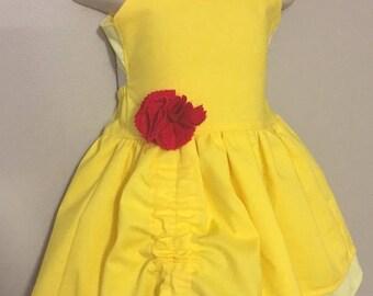 Disney Belle Dress | Princess Belle Dress | Belle Party Dress | Beauty and the Beast