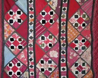 Uzbek patchwork wall hanging