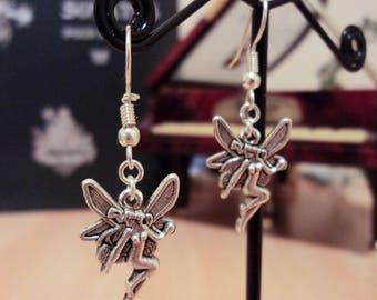 Earrings fairy - silver - 4 cm