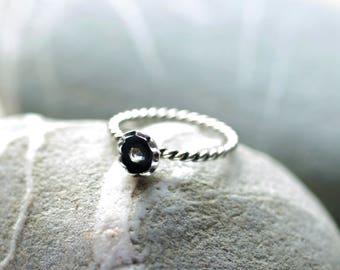 Daisy Ring, Flower Ring, Silver Daisy Ring, Boho Flower Ring, Mother's day gift