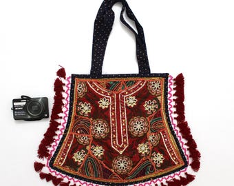 Handmade Ethnic Designer Tribal Banjara Patchwork Embroidered Hippy Fashionable Stylish Trendy Hippie Gypsy Boho Bohemian Fancy Bag G285