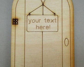 Personalised Wooden Fairy Door – Real Wood Grain Fairy Door customised with the name of your choice!