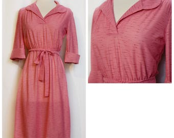 70s Pink Semi-Sheer Day Dress