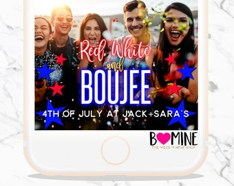 4TH OF JULY Snapchat Geofilter,Fourth of July Snapchat,Neon Snapchat, Bad and boujee,It's Lit,4th of July Party, Birthday Snapchat Geofilter