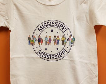 Kids Diverse Mississippi Tee - Color: White