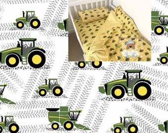 Black White Tractor Toddler Bedding Set Tractor Toddler Bedding Blanket Tractor Fitted Sheet Pillow Case Cotton Toddler Bedding Deere