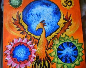 Phoenix Rising - Acrylic Painting