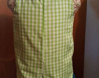 Little 6mos jonjon romper lime Green  check size 6mos