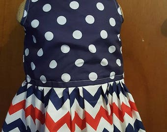 Red White and Blue Dress size 6mos