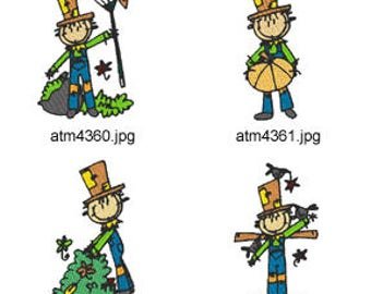 A-Kids-View-Scarecrow  ( 7 Machine Embroidery Designs from ATW ) XYZ17H