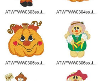 Thanksgiving ( 17 Machine Embroidery Designs from ATW ) XYZ17I