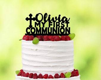 First Communion Cake topper - First Holy Communion - Cake Topper Communion - First Communion Boy - First Communion Girl