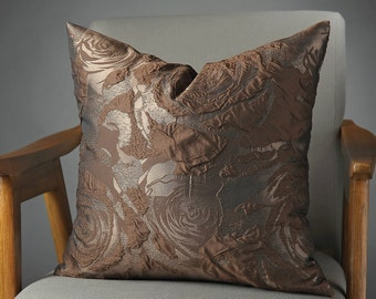 Brown Pillow, Brown Pillows,  Brown Bed Pillow, Brown Pillow Cover, Brown Decorative Pillow, Brown Couch Pillow, Brown Sofa Pillow