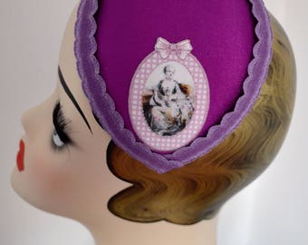 Hat Fascinator Romantic Purple Violet  Millinery Bibi