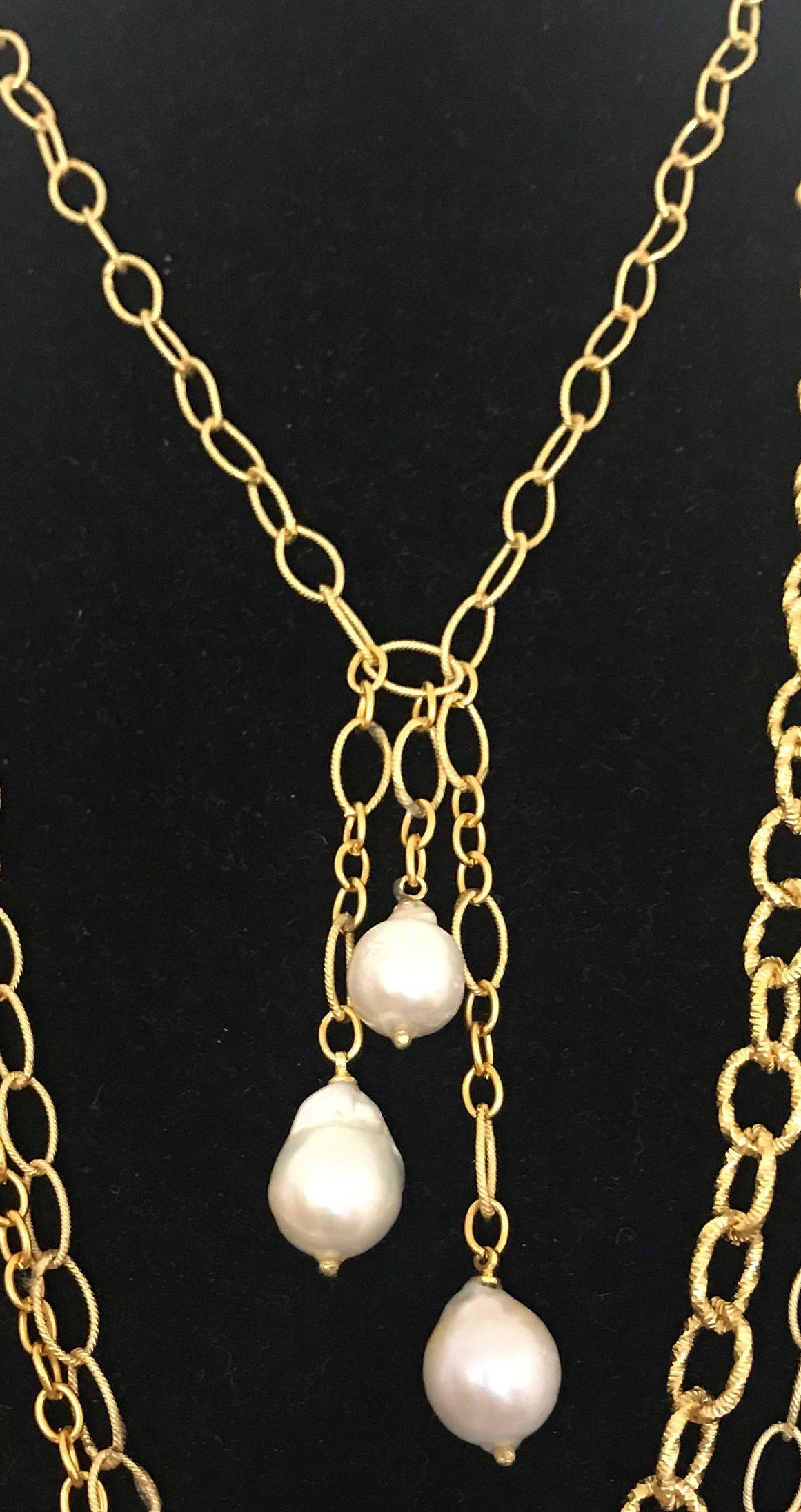 Pearl Pendant Necklace, Drop Pearl Necklace, Baroque Pearl ...