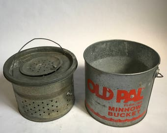 Vintage Old Pal Minnow Bucket